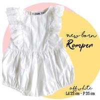 Romper bayi new born putih / baju baptis bayi