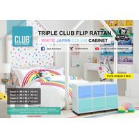 RAK LEMARI PLASTIK SERBAGUNA 2 SUSUN 6 PINTU FLIP CLUB triple