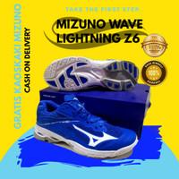 Sepatu volly Mizuno wave lightning z6 low biru wlz 6 grade ORI premium