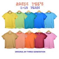 basic tee baju polos anak umur 2-10 tahun baju kaos polos anak