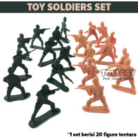 Mainan Anak Jadul Figure Tentara Perang Toy Soldiers Set Army Plastik