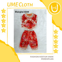 Cheongsam Cewek / Baju Imlek Shanghai Anak Perempuan #8208