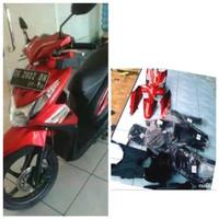 body bodi Full body Honda beat fi tahun 2013-2014 warna merah TERLARI