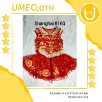 Cheongsam Cewek / Baju Imlek Shanghai Anak Perempuan #8160 #L8160 - 12