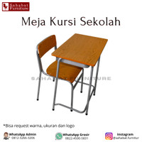 Meja Kursi Siswa Sekolah Rangkah Besi Bangku Belajar SD SMP SMA