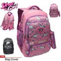 tas ransel sekolah silver girl anak wanita remaja alto cat moon