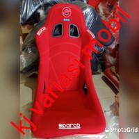 jok racing bucket merah bahan kain impor+2pcs real