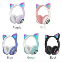 Headset Bluetooth Bando Ear Cat LED Tipe STN-28 / Wireless Bando Cat