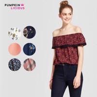 PUMPKIN mix model off shoulder / sabrina top / atasan wanita