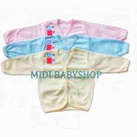 Baju bayi lengan panjang polos ( Nita Baby ) - Merah Muda