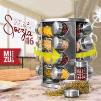 SPEZIA Rotating Spice Rack Organizer Rak Putar Tempat Bumbu Dapur