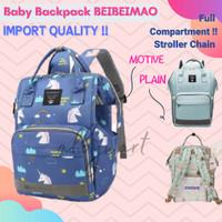 Tas Bayi Anello Diaper Bag Backpack Ransel Multifungsi mirip land - PLAIN BLACK