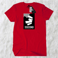 KAOS 3SECOND PRIA TERBAIK best seller - M, Merah