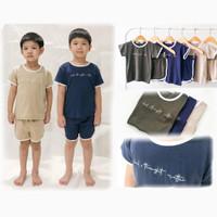 Setelan Kaos Retro Anak Laki Laki Baju Harian Celana Pendek CHALA SET