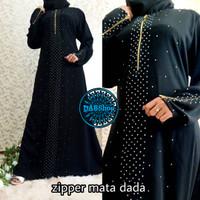 Gamis Abaya Zipper Mata Busui Sleting Depan Busana Muslim Wanita