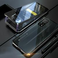 Case MAGNETIC XIAOMI MI 10T - Mi 10T PRO Double Glass cover Premium - Hitam, Mi 10T Pro