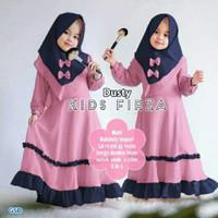 Firza Kids Gamis Anak Perempuan Baju Muslim Anak 2 s/d 12 th - S, Pink