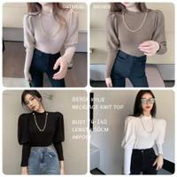 Kylie Necklace Knit Tops Lengan Panjang Import TM 8690