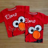 Baju Kaos Atasan Anak Laki Laki Elmo Merah