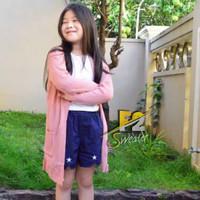 cardigan anak perempuan sweater rajut kardigan kids usia 3-7 tahun