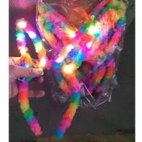 BANDO KELINCI BULU LED RAINBOW