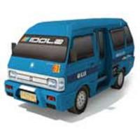 DIY Papercraft Kendaraan umum Angkot Biru