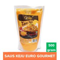 EURO GOURMET CHEESE SAUCE 500GR - TOPPING SAUS KEJU KEMASAN POUCH