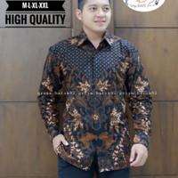 baju batik cpwok seragam kantor kondangan lapis furing - M