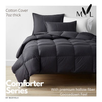 Bed Cover Set Katun 200x200 King Koil Hitam by Marvelo