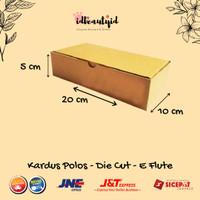Kardus Packing karton Polos 20x10x5 cm --Die Cut dan easy usage--