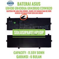 BATERAI ASUS UX430 UX430U UX430UA UX430UN UX430UQ C31N1620 ORIGINAL