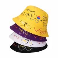 Topi Bucket Pria / Wanita Motif Graffiti Gaya Korea / Topi Korea