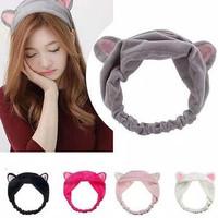 Bandana Bando Motif Kuping Hairband Korea Lucu Kucing Bendo Headband R