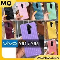 Case Vivo Y91 Y95 Soft Case Koper Trunk Luggage Anticrack Macaron Case