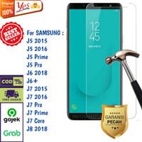 Tempered Glass J5 J6+ J7 Prime J8 Samsung Anti Gores Kaca Bening Yes