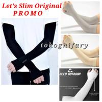 Manset Tangan olahraga pria wanita Arm Sleeve Let's slim Original - Ungu
