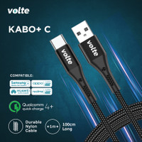 VOLTE KABO+ Kabel Fast Charging 100cm USB A to type C