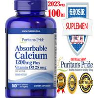 Calcium Absorbable 1200Mg 100 Kalsium Vitamin C D3 E melatonin Puritan