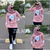 Baju Lengan Panjang Wanita Zolaqu Ori Fashion Muslim