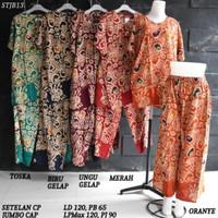 Setelan baju tidur celana panjang jumbo motif batik pekalongan