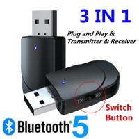 VIKEFON 2 in 1 USB Audio Bluetooth 5.0 Transmitter & Receiver KN330
