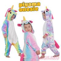 Piyama Onesie Baju Tidur Kostum Karakter Unicorn Bahan Lembut Nyaman