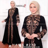 baju gamis abaya Arab india Turkey hitam syari asdf bordir 270 busui