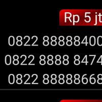 Nomor Cantik simpati 4G 0822 88888 400 panca 88888 unik hoki mi1