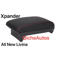 Console Box Xpander / Armrest All New Livina / Arm Rest Expander Hitam - Jahit Merah G2