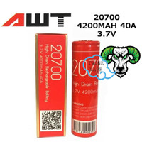 AWT 4200mAh 40A 20700 Battery 100% Authentic / Batrai AWT 20700