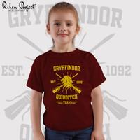 Kaos Distro Anak Harry Potter   Griffindor Quidditch   KID T-Shirt