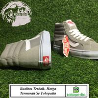 Sepatu Sneaker Pria Wanita Premium Import VANS SK8 HI FROST GREY WHITE