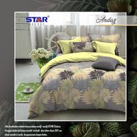 BED COVER SET SPREI star motif andar - 200x200x20