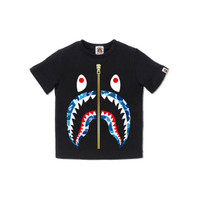 Bape Kids ABC Camo Shark tee - Black/Blue